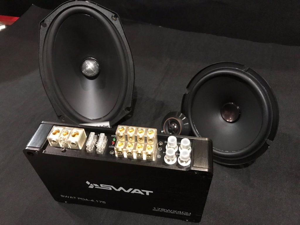 компонентная акустика Pioneer TS-D65C, тыл – акустика EOS MS-692, усилитель – Swat PDA-4.175